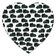 Black Cat Jigsaw Puzzle (heart) by Brittlevirginclothing