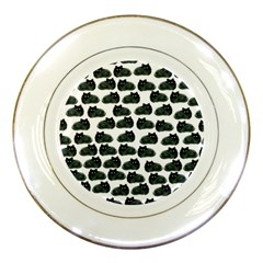 Black Cat Porcelain Plates by Brittlevirginclothing