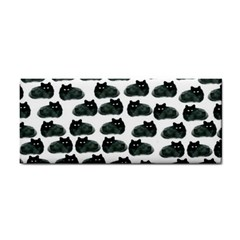 Black Cat Hand Towel by Brittlevirginclothing