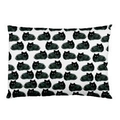 Black Cat Pillow Case (two Sides) by Brittlevirginclothing