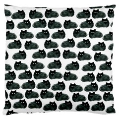 Black Cat Standard Flano Cushion Case (one Side) by Brittlevirginclothing