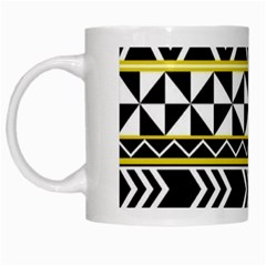 Black Bohemian White Mugs by Brittlevirginclothing