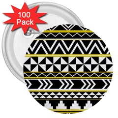 Black Bohemian 3  Buttons (100 Pack)  by Brittlevirginclothing