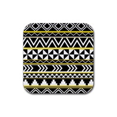 Black Bohemian Rubber Coaster (square)  by Brittlevirginclothing