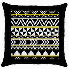 Black Bohemian Throw Pillow Case (black) by Brittlevirginclothing
