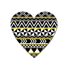 Black Bohemian Heart Magnet by Brittlevirginclothing