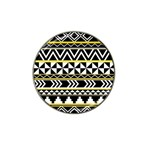 Black bohemian Hat Clip Ball Marker Front