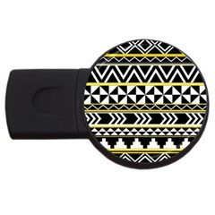 Black Bohemian Usb Flash Drive Round (4 Gb) by Brittlevirginclothing