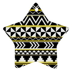 Black Bohemian Star Ornament (two Sides) by Brittlevirginclothing