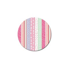 Pink Wood Golf Ball Marker (4 Pack)