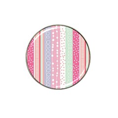 Pink Wood Hat Clip Ball Marker by Brittlevirginclothing