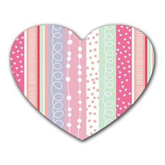 Pink Wood Heart Mousepads by Brittlevirginclothing