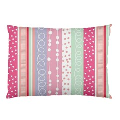 Pink Wood Pillow Case (two Sides) by Brittlevirginclothing