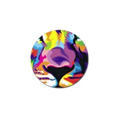 Colorful Lion Golf Ball Marker (4 Pack) by Brittlevirginclothing