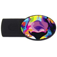 Colorful Lion Usb Flash Drive Oval (2 Gb) by Brittlevirginclothing