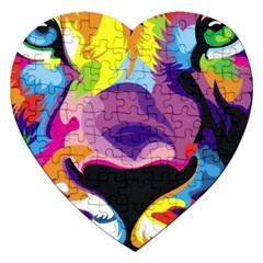 Colorful Lion Jigsaw Puzzle (heart) by Brittlevirginclothing