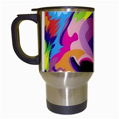 Colorful Lion Travel Mugs (white) by Brittlevirginclothing