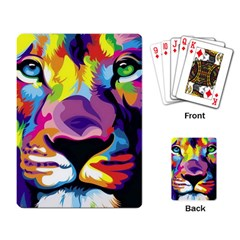 Colorful Lion Playing Card by Brittlevirginclothing
