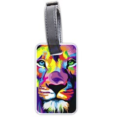 Colorful Lion Luggage Tags (two Sides) by Brittlevirginclothing