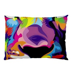 Colorful Lion Pillow Case (two Sides) by Brittlevirginclothing