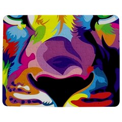 Colorful Lion Jigsaw Puzzle Photo Stand (rectangular) by Brittlevirginclothing