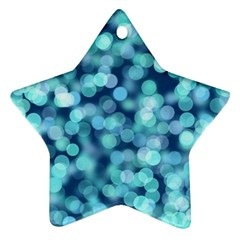 Blue Light Ornament (star) by Brittlevirginclothing