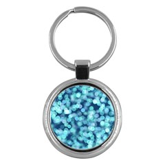 Blue Light Key Chains (round)  by Brittlevirginclothing