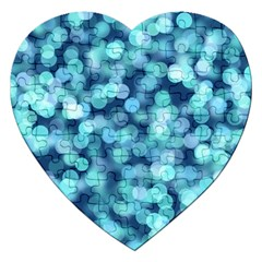 Blue Light Jigsaw Puzzle (heart) by Brittlevirginclothing