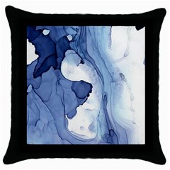 Paint In Water Throw Pillow Case (black) by Brittlevirginclothing