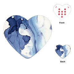 Paint In Water Playing Cards (heart)  by Brittlevirginclothing