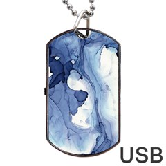 Paint In Water Dog Tag Usb Flash (two Sides) by Brittlevirginclothing