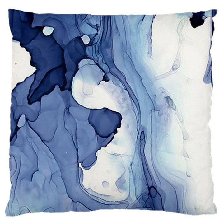 Paint in water Large Flano Cushion Case (One Side)