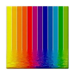 Faded Rainbow  Tile Coasters by Brittlevirginclothing