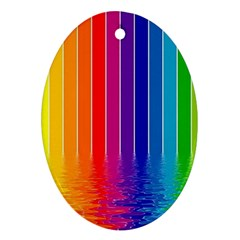 Faded Rainbow  Ornament (oval) by Brittlevirginclothing