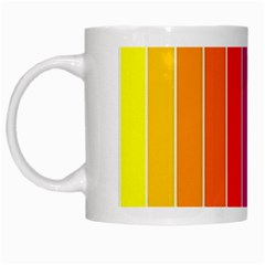 Faded Rainbow  White Mugs by Brittlevirginclothing