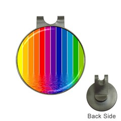 Faded Rainbow  Hat Clips With Golf Markers by Brittlevirginclothing