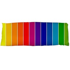 Faded Rainbow  Body Pillow Case (dakimakura) by Brittlevirginclothing