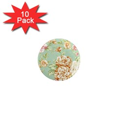 Vintage Pastel Flower 1  Mini Magnet (10 Pack)  by Brittlevirginclothing