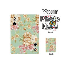 Vintage Pastel Flower Playing Cards 54 (mini)  by Brittlevirginclothing