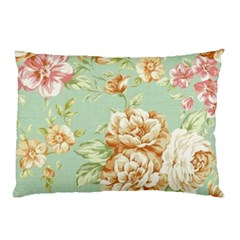 Vintage Pastel Flower Pillow Case (two Sides) by Brittlevirginclothing