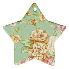Vintage Pastel Flower Ornament (star) by Brittlevirginclothing