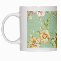 Vintage Pastel Flower White Mugs by Brittlevirginclothing