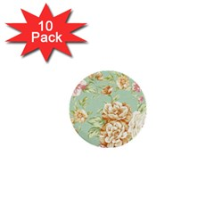 Vintage Pastel Flower 1  Mini Buttons (10 Pack)  by Brittlevirginclothing