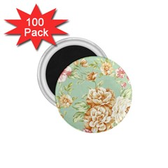 Vintage Pastel Flower 1 75  Magnets (100 Pack)  by Brittlevirginclothing