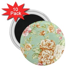 Vintage Pastel Flower 2 25  Magnets (10 Pack)  by Brittlevirginclothing