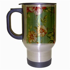 Vintage Pastel Flower Travel Mug (silver Gray) by Brittlevirginclothing