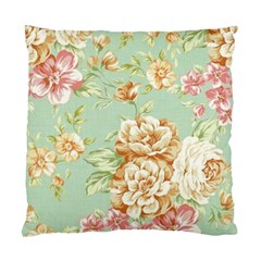 Vintage Pastel Flower Standard Cushion Case (two Sides) by Brittlevirginclothing