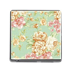 Vintage Pastel Flower Memory Card Reader (square) by Brittlevirginclothing