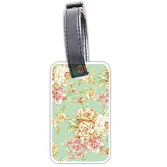 Vintage Pastel Flower Luggage Tags (one Side)  by Brittlevirginclothing