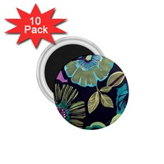Dark Lila Flower 1 75  Magnets (10 Pack)  by Brittlevirginclothing